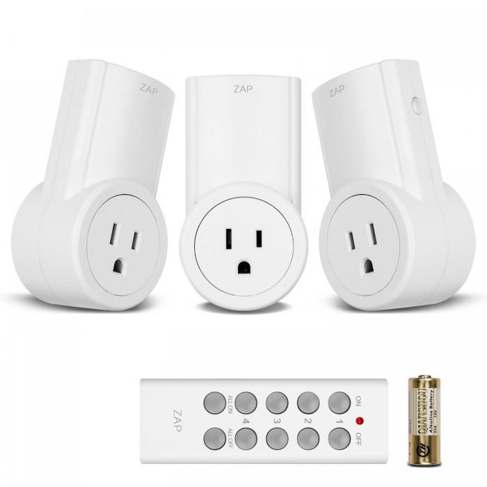 懒人的福音!Etekcity 3Rx-1TX 智能无线遥控器电源插座开关 20.79元,原价 28.95元