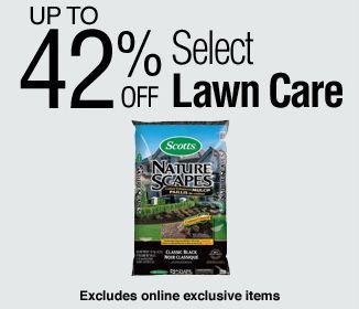 Lowe's 精选44款草坪养护及装饰产品5.8折起限时特卖,额外立减10元!