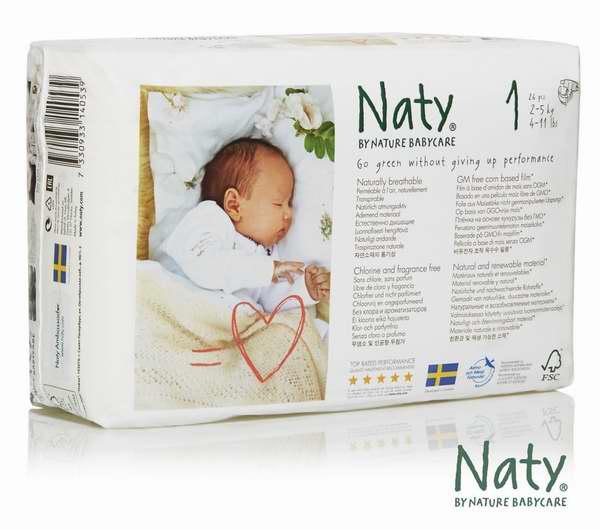 Nature Babycare 全天然环保婴儿尿不湿(Size-1、26x4Count)6.6折 40.19元限时特卖并包邮,额外再立减5元!