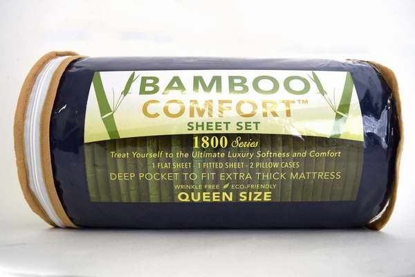 BAMBOO COMFORT 1800系列混纺竹纤维 Queen/King 床单4件套 29.95-39.95元限量特卖并包邮!