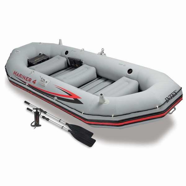 逆季促销!Intex Mariner 4 68376EP 专业四人加厚硬底充气船/橡皮艇/钓鱼船5.8折 292.85加元包邮!
