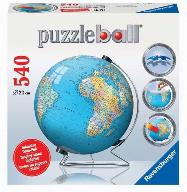 RAVENSBURGER 3D地球仪拼图玩具24.75元限时特卖!