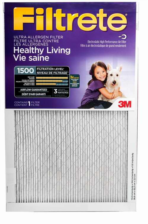 Filtrete MPR 1500 防过敏家庭空调暖气炉过滤网(6个装) 79.99加元包邮!