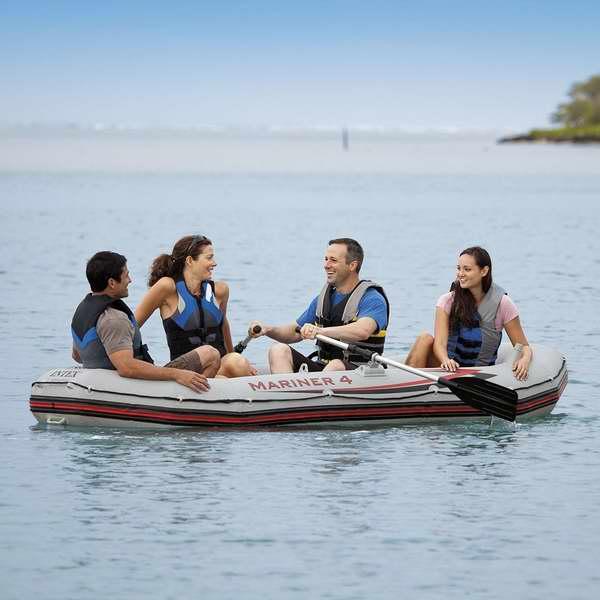 补货!Intex Mariner 4 68376EP 专业四人加厚硬底充气船/橡皮艇/钓鱼船 349.99加元包邮!安省7月上旬免费钓鱼!