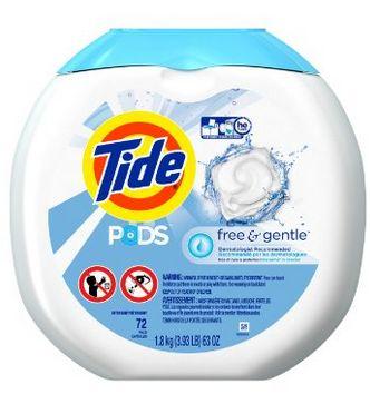 深层洁净温和配方,Tide PODS 洁衣粒 13.59加元,原价 19.99加元