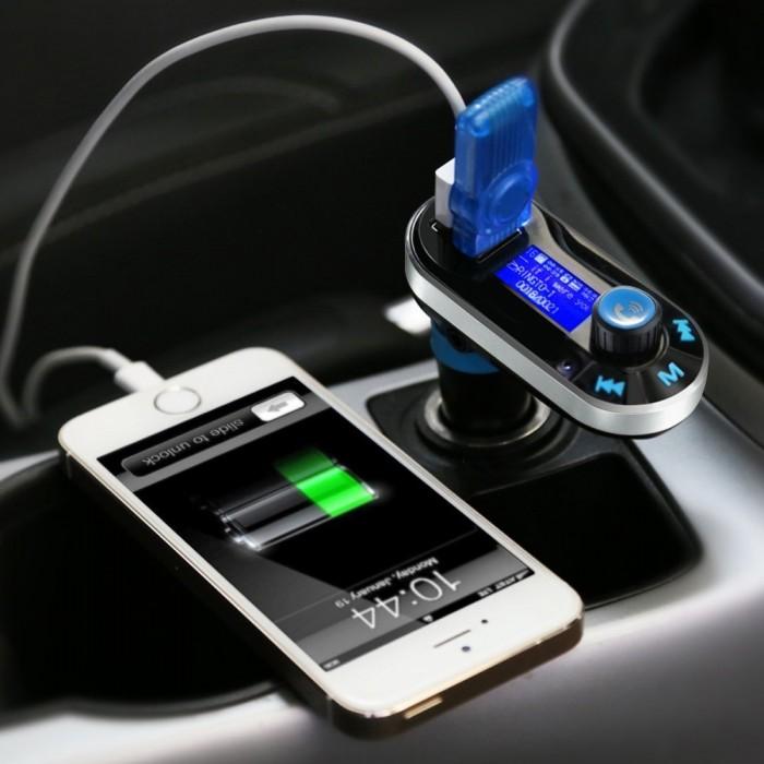 Habor 无线蓝牙车载FM调频转换器+全音控免提电话+双USB充电插口 15.99元限量特卖,原价 23.99元