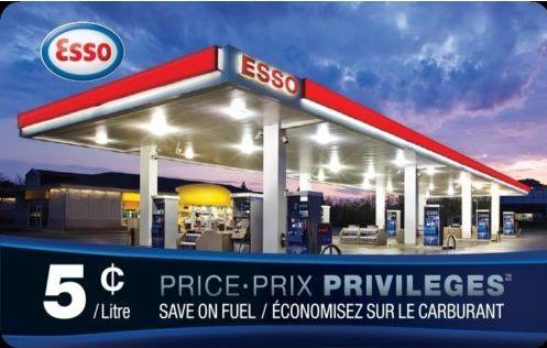 Ebay.ca网店促销,Esso Price Privileges Card 省油卡-省$0.05/升,满75元立减20元!