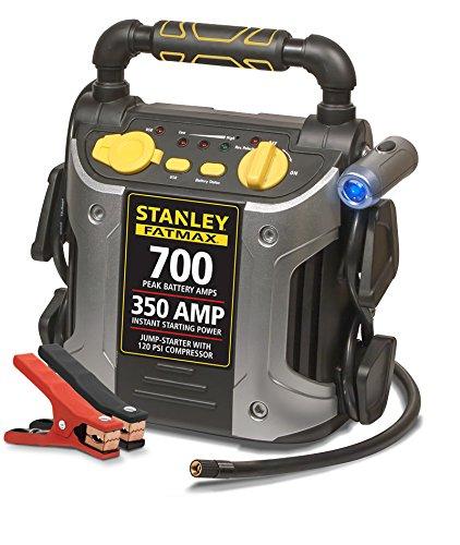 历史新低!Stanley 史丹利 J7CS 350 Amp 多功能移动电源/充电宝/照明灯/警报器/轮胎打气机/汽车电瓶紧急启动电源3.7折 67.67加元包邮!