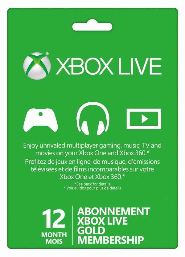 12个月Xbox Live金会员年卡 49.99元限时特卖并包邮!3个月季卡6折 14.99元特卖!