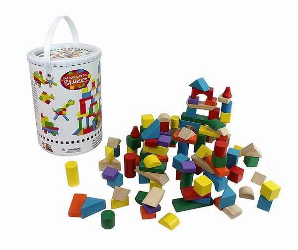 白菜价!历史新低!Right Track Toys 100%天然实木 彩色积木(100pcs)2.4折 11.95加元清仓!
