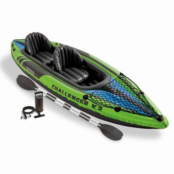 Intex 挑战者 K2 Kayak 二人充气独木舟套装4.6折 131.09加元包邮!