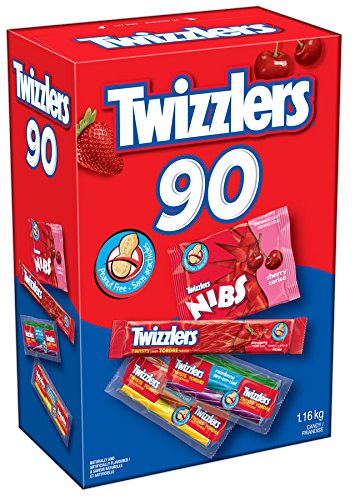 历史最低价!美国国民零食Twizzlers 多乐滋 低脂肪低卡低糖 扭扭糖1.2公斤90包套装4.4折 9.95元限时清仓!