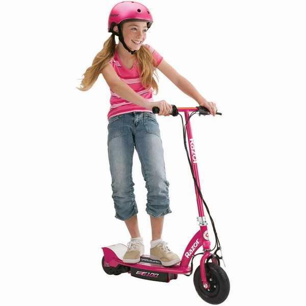 超酷超拉风!历史最低价!Razor 13111261 E100 儿童电动滑板车4.3折 112.31元限时清仓并包邮!