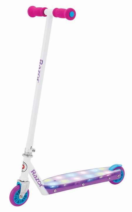 历史最低价!Razor 13011762 Party Pop 炫酷LED踏板儿童滑板车4.4折 35.35元限时清仓并包邮!