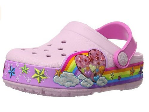 Crocs 彩虹图案洞洞鞋 19.17加元(2码),原价 49.99加元