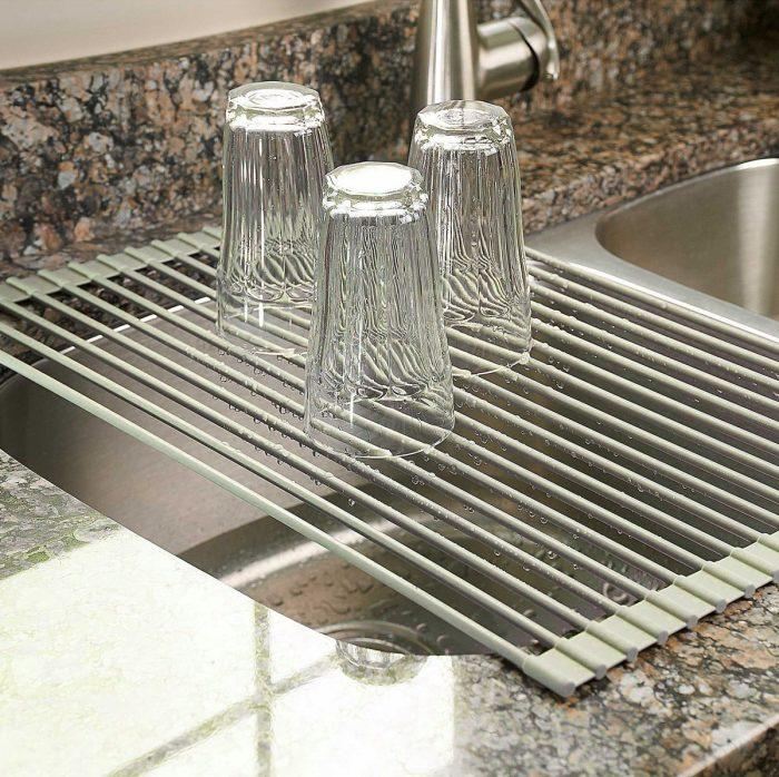 Surpahs 不锈钢水槽沥水架 21.98元限量特卖,原价 26.99元