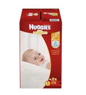 Huggies 好奇1号婴儿纸尿裤216片装 38.44元特卖,原价 49.81元,包邮