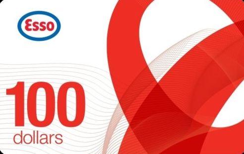 加油卡限时促销!Ebay.ca网店促销, 买 Esso加油卡100元立减19元!