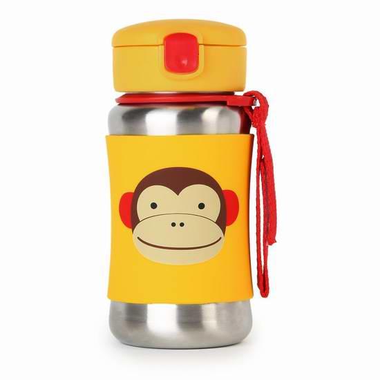 Skip Hop Zoo 动物图案不锈钢吸管水杯折 18.39加元!