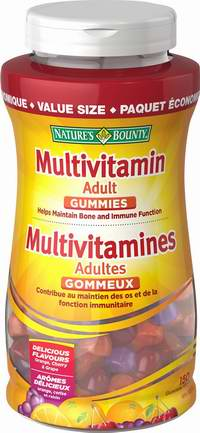 Nature's Bounty 自然之宝 成人复合维生素软糖超值装  7.75加元(150粒),原价 17.49加元