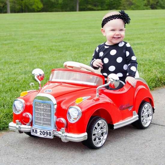 历史新低!Lil' Rider Cruisin' Coupe 儿童电动小跑车/老爷车+家长遥控 111.21加元限时特卖并包邮!