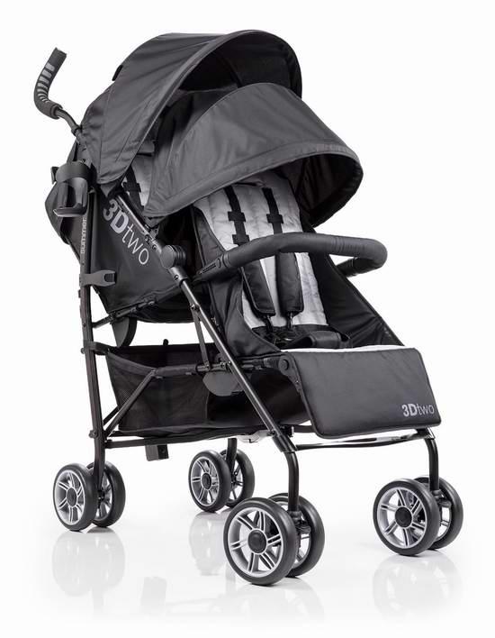 历史最低价!Summer Infant 3D 超轻便双人婴儿推车6折 149.99加元包邮!