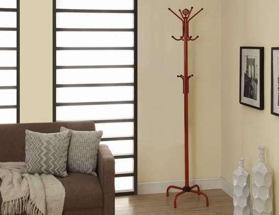 历史新低!Monarch Specialties 70英寸红色金属衣帽架3.1折 19.97加元清仓!