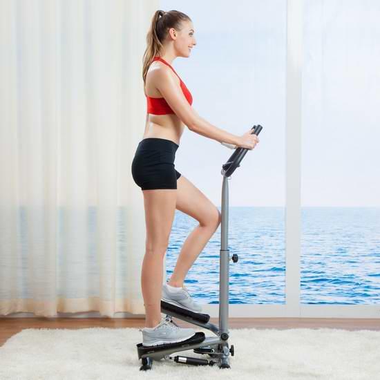 售价大降!历史新低!Sunny Health&Fitness 059 扭腰踏步机3.1折 52.16元限时清仓并包邮!