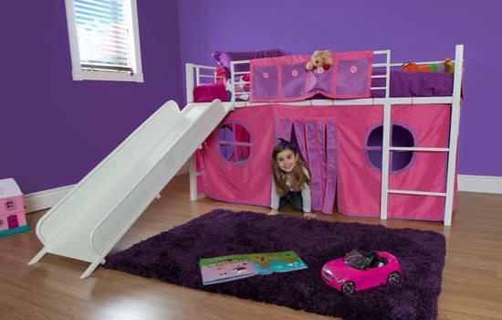 历史新低!DHP Junior Loft Twin 儿童滑梯床7.8折 219元限时特卖并包邮!