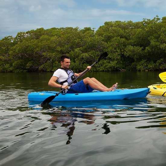 历史新低!Lifetime Lotus Sit-On-Top 8英尺独木舟套装5.1折 205.2元限时特卖并包邮!
