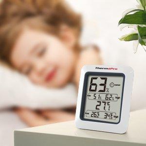 呵护全家健康!ThermoPro TP50 监控室内温湿度计 13.59元限量特卖,原价 15.99元