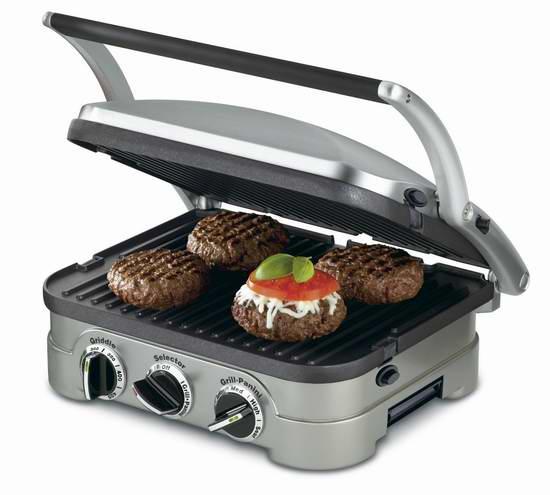 居家烧烤神器!Cuisinart CGR-4NC 五合一烧烤炉6.1折 79.88加元包邮!