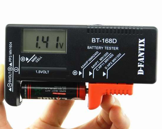 D-FantiX AM-HG119 数字电池电量测试仪8.5折 13.59元限量特卖!