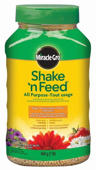 历史新低!Miracle-Gro Shake 'n Feed 12-4-8 通用植物肥料1磅装4.3折 3元限时特卖!