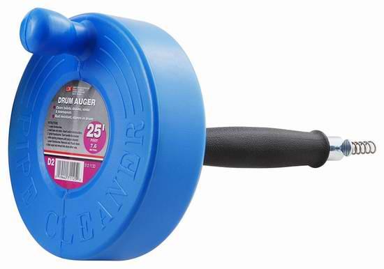 LDR 512 1130 25英尺下水道疏通器5.9折 16.23元限时特卖!