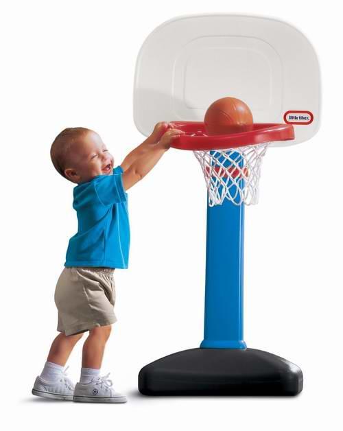 折扣升级!Little Tikes 小泰克 EasyScore 儿童成长型室内/室外篮球架套装 34.97加元!2色可选!
