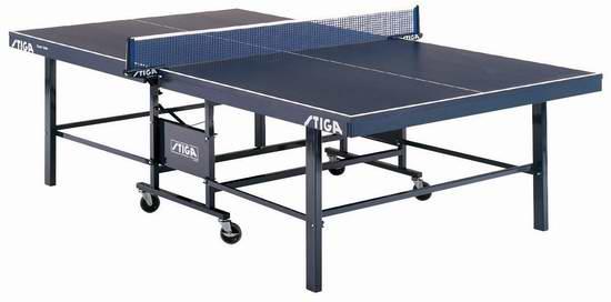 历史新低!Stiga T82201 Expert Roller 专业竞赛级 折叠式室内乒乓球桌3.3折 591.52加元包邮!