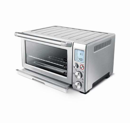 Breville BOV845BSS 不锈钢10合一智能对流电焗炉/电烤箱6.1折 224.99加元包邮!