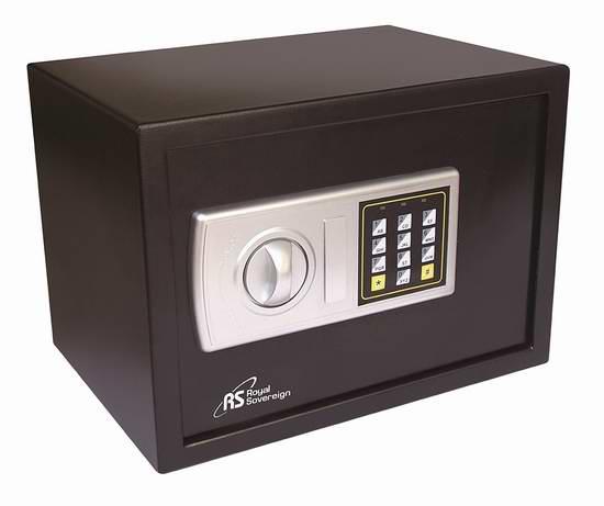 历史新低!Royal Sovereign 皇冠 RS-SAFE25 数字密码保险箱6.4折 89.99元限时特卖并包邮!