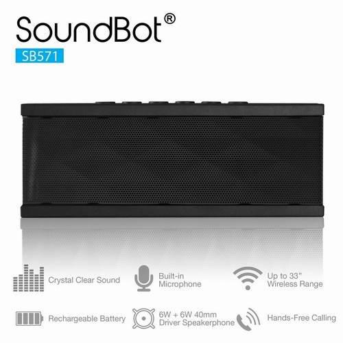 12小时超长续航!SoundBot SB571 便携式无线蓝牙音箱 23.99元限量特卖!