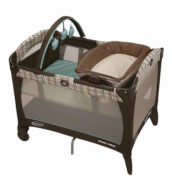 快抢!历史新低!Graco 葛莱 Pack n 婴儿游戏床+双向睡篮+尿布台3.6折 79.99元限时特卖并包邮!