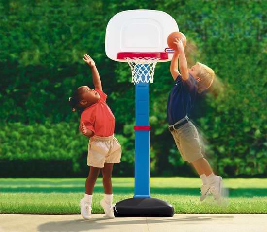 Little Tikes 小泰克 EasyScore 儿童成长型室内/室外篮球架套装 34.97加元!2色可选!