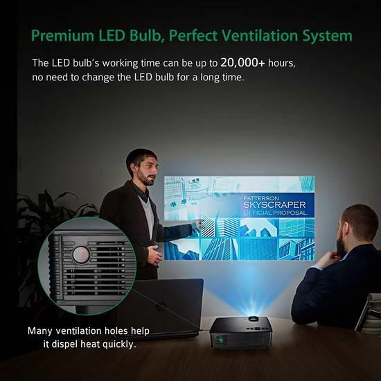 销量冠军!Mpow 便携式1200流明LCD家庭影院投影仪 84.99加元包邮!