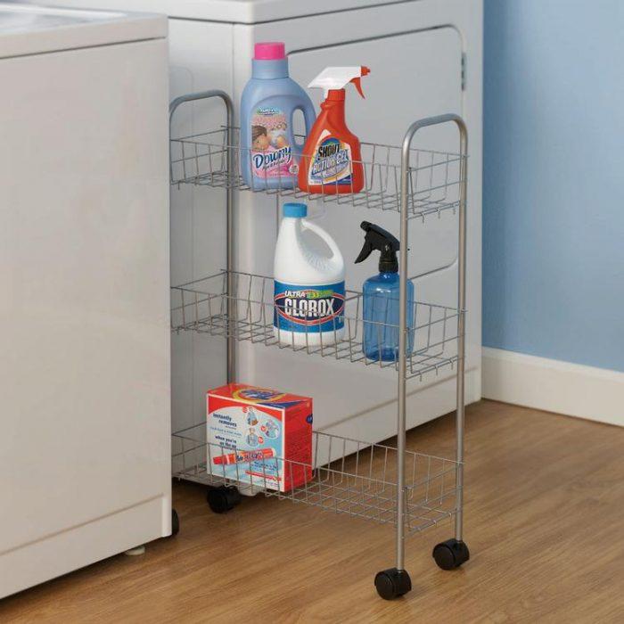 Household Essentials 3层钢架存储车 13.99元,原价 30元