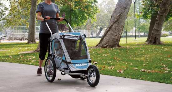 历史最低价!Allen Sports Premier 二合一单人座儿童推车/自行车拖车 179.99元限时特卖并包邮!
