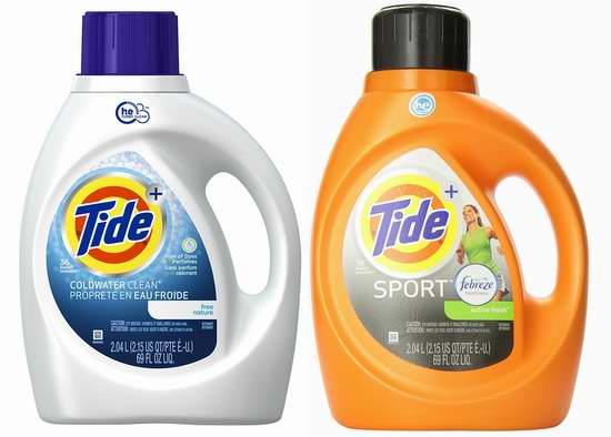 历史新低!精选两款 Tide 汰渍 HE 2.04升洗衣液6.1折 7.49-7.88元限时特卖!