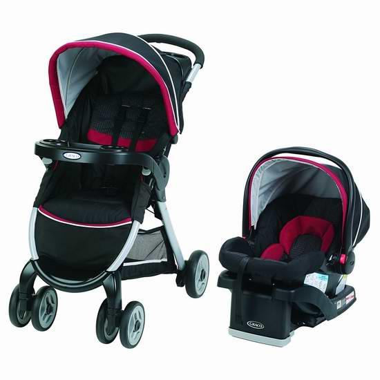 历史新低!Graco FastAction 四轮婴儿推车 + 旅行车载提篮组合 299.99元限时特卖并包邮!