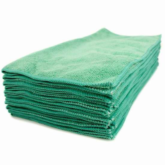 历史新低!Zwipes Commercial H1-727 高级超细纤维清洁毛巾12件套4.3折 16.88元限时特卖!