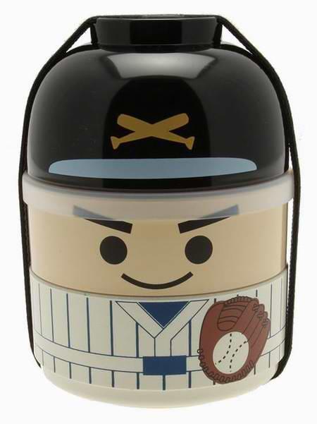 历史新低!Kotobuki 280-269 超萌棒球员儿童双层饭盒/日式便当盒3.8折 14.17元限时特卖!