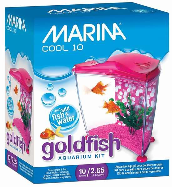 历史新低!Marina Cool 2.65加仑金鱼水族箱6折 35.45元限时特卖并包邮!
